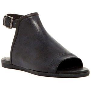 Eileen Fisher Mug Sandal // Black Dakota Leather